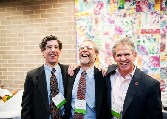 Richard Davidson, Daniel Goleman i Jon Kabat-Zinn. Photo:tricycle.org